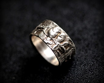 Solid Sterling Silver Woodland Bird Ring