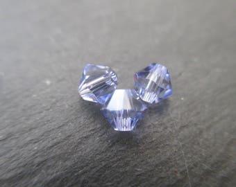 4 mm: 8 Swarovski Crystal bicone bead provence Lavender