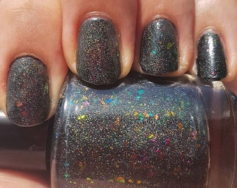 ZzZZzZap! by CANVAS lacquer - blacky jelly with multichrome flakies