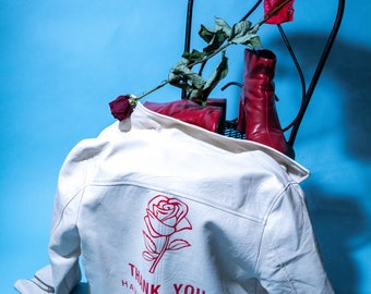 Thank You Have A Nice Day Vegan Leather Jacket