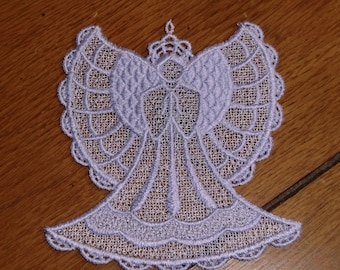 Embroidered Magnet - Christmas - Angel Lavender All Thread