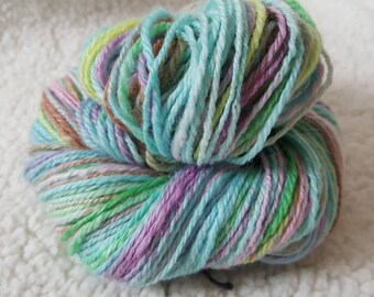 Blue Handspun Wool, Handspun Yarn, sport weight yarn,