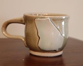 Georgia state mug - blue and green