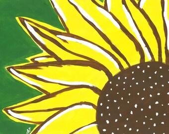 8x10 PRINT Sunflower