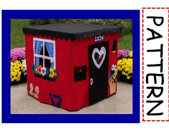 Card Table Playhouse Sewing Pattern, Deluxe, Instant Download at Purchase, Sew the Playhouse seen on the Today Show, eBook over 45 pages