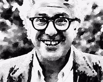 Older Bernie Watercolor Print