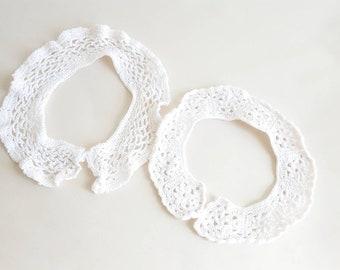 Vintage Crochet Collars In White