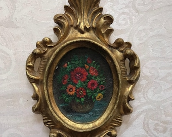 Antique florentine painting wall hanging