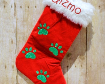 Cat Personalized Stocking/Dog Personalized Stocking, Pet Personalized Stocking, Christmas Stocking for Pet/Christmas Personalised Stocking