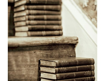 """Book Photography, Library Decor, Books, Vintage Books, Room Decor, Reading, Vintage Decor, Old Books, Fine Art Photography, """"Well Read"""""""