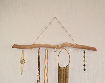 Wooden Jewelry Organizer, Bohemian Jewelry Holder, Wooden Jewelry Tree, Jewelry Stand, Natural Branch Jewelry, Eco Decor, Gift for her