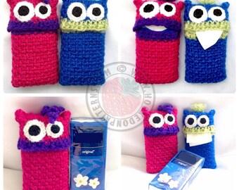 Tissue Monsters - Fun pocket tissue covers- Crochet PDF Pattern