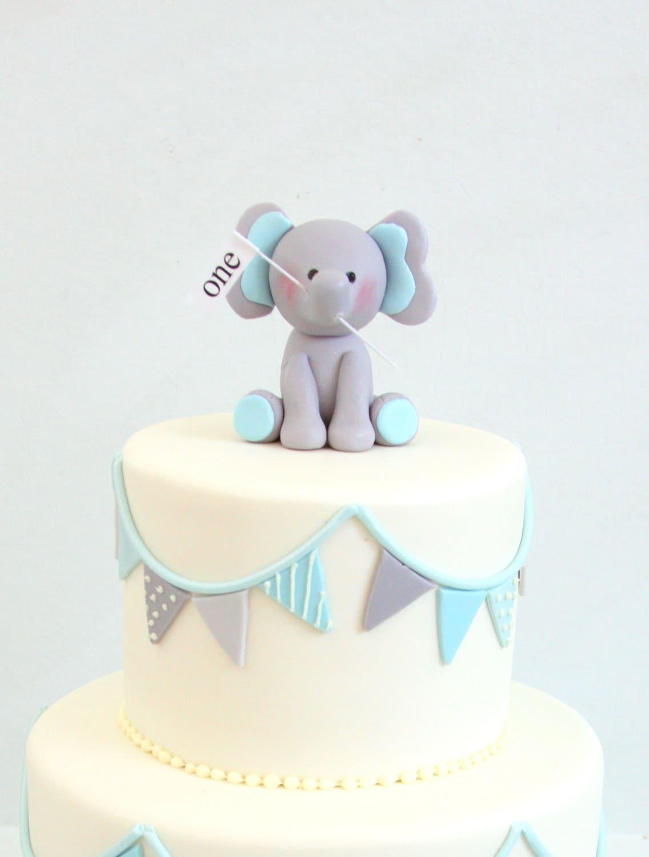 Baby Elephant Fondant Cake Topper Details from CakesbyMaylene on