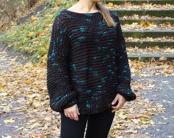 loose knit sweater, knit oversized sweater, knit bulky sweater, knit pullover, knit jumper, sweater, loose knit, knitwear, ready to ship