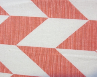 Arrows in Salmon and White- Parallelograms-Baby/ Toddler Crib Sheet- Fitted Crib Sheet-Sheets- Bedding-Nursery-