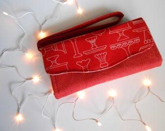 Baker Red Clutch Wallet