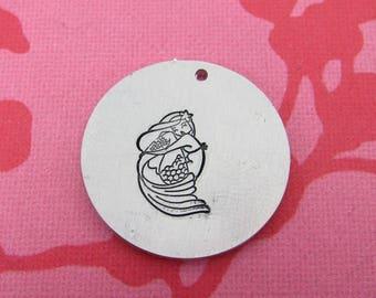 Mermaid Metal Design Stamp - 13mm | Metal Stamping Mermaid Stamp | Little Mermaid Stamp | Metal Design Stamp