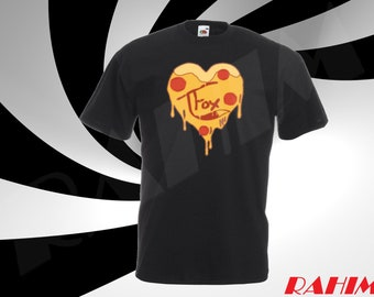 Tanner Fox, TFox Pizza logo limited, T-fox heart , gamer, youtuber,Kid's T-shirt