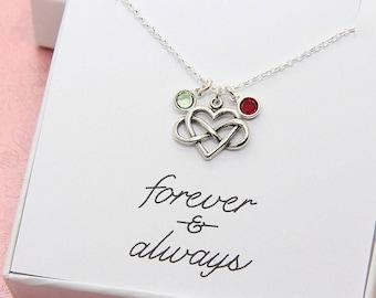Infinity Heart Necklace, Heart Necklace, Infinity Necklace, Sterling Silver Infinity Necklace, Infinity Love, Heart Jewelry, Gift for Women