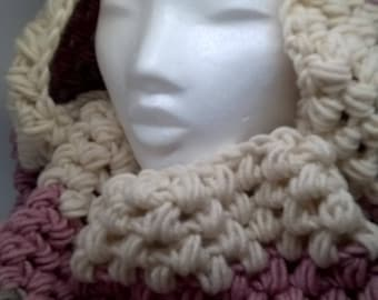 Chunky Cowl, Neckwarmer, Crochet, handmade, scarf, gift for her, gift idea, Christmas gifts, gift for him,
