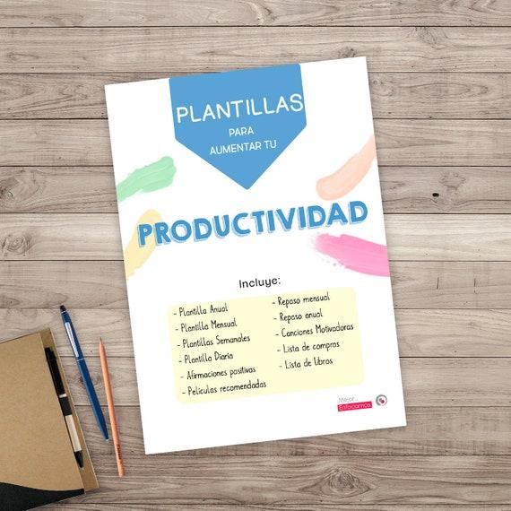 Planificador Imprimible Productividad Planificador objetivos