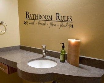 Bathroom Decal Quote Decal Bathroom Decor Quote Sticker Vinyl Wall Decal 8  X 28 Inches