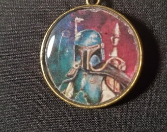 Boba Fett Pendant Necklace or Keychain