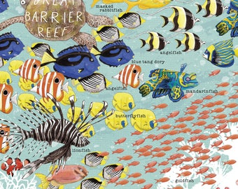 Great Barrier Reef laser OR giclée print A4 size