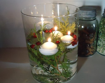 Floating Candles, 10 water candles, romantic easy centerpiece, low cost wedding tabletop decor, white unscented candles, mason jar crafts