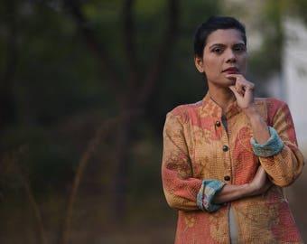 Extra Large ~ Motta Diniz, One of a Kind, Handmade Kantha Jacket