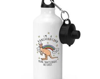 I'm A Kangarooicorn Sports Bottle