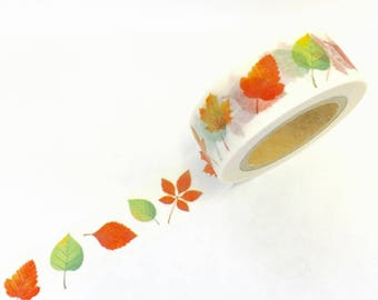 Fall Leaves Foliage Autumn Thanksgiving Paper Washi Tape Scrapbooking Decorate Sticker ( 733)