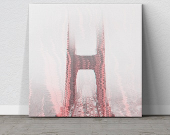 Golden Gate Bridge, Cityscape, Cityscape Decor, San Francisco, San Francisco Photo, Wall Hanging, Modern Art, Wall Art, Wall Decor, Trippy