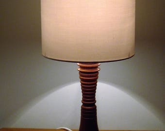 Unique African Sapele hardwood table lamp 307mm in height.