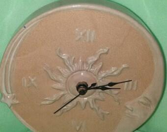 Stoneware Sun/Moon Clock