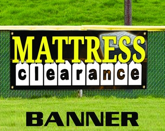 Mattress Clearance Cleaning Washing Advertising Banner Sign