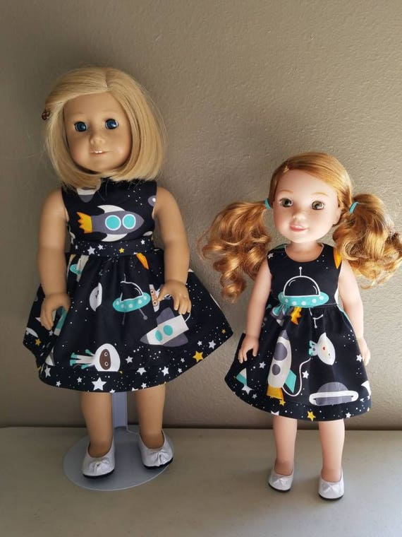 Out of This World Dress for Wellie Wisher and American Girl Dolls