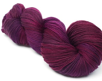 Baah La Jolla Yarn Color Garnet           Hand Dyed Premium Artisan Yarn!    400 Yards!