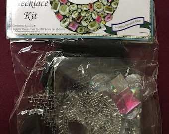Acrylic Jewels Necklace kit complete with everything you need except glue