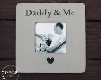 Daddy Picture Frame First Father's Day Gift New Dad Gift Personalized Picture Frame Gift from Child to Dad Rustic Distressed Frames