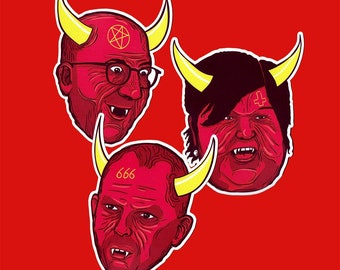 REAL RED DEVILS - 3 Max stickers 10cm
