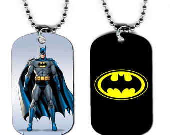 DOG TAG NECKLACE - Batman 1 Bruce Wayne Superhero Comic Book Art