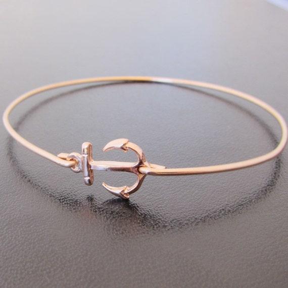 Anchor Bracelet Rose Gold Womens Nautical Bracelet Anchor