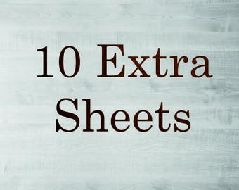 10 Extra sheets to your Guest Book