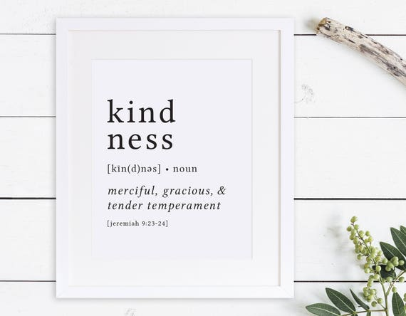 Kindness print definition print fruit of the spirit stopboris Gallery