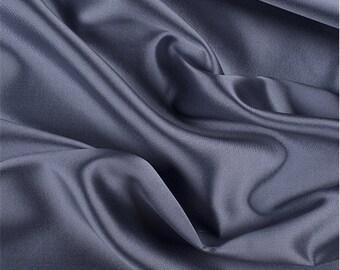 Lavender/Black Silk/Wool Gab, Fabric By The Yard