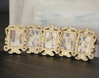 Paris Frames, french miniature frames, embellished frames, Mediterranea Design Studio french decor, gold frame framed paris sign paris decor