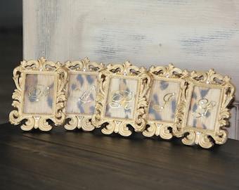 Paris Frames, french miniature frames, embellished frames, Mediterranea Design Studio french decor, gold frame framed paris sign paris decor