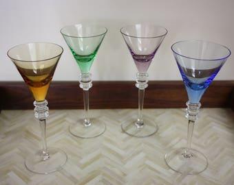 Set of 4 Vintage Cordial Glasses