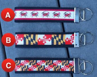 Maryland Flag Key Chain / Maryland Flag / Maryland Crab / 3 Styles